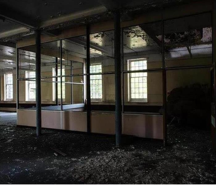 interior fire damage to commercial property