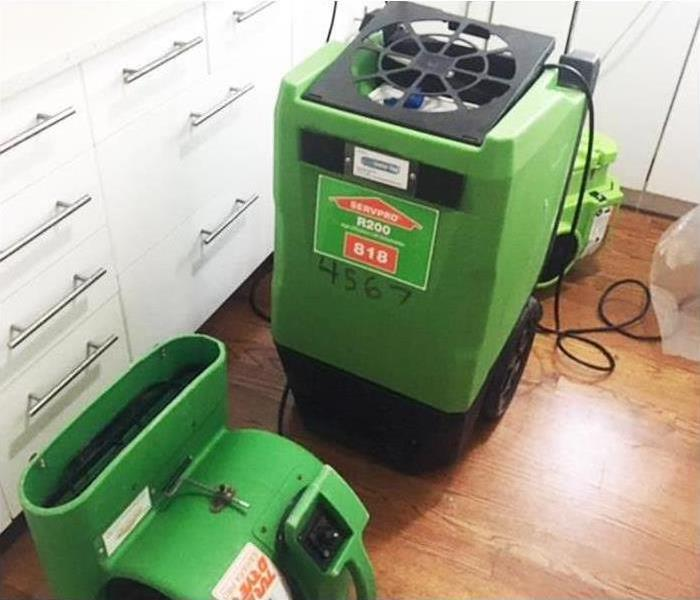 pictures SERVPRO drying equipment