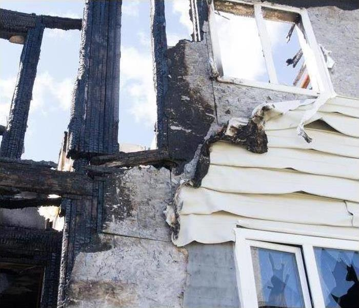 structural damage after a property fire