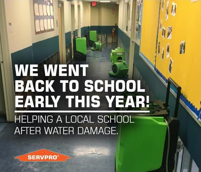 Water Damage SERVPRO of Old Bridge / Cranbury went Back to School Early, Helping a New Jersey School with Restoration After Water Damage.